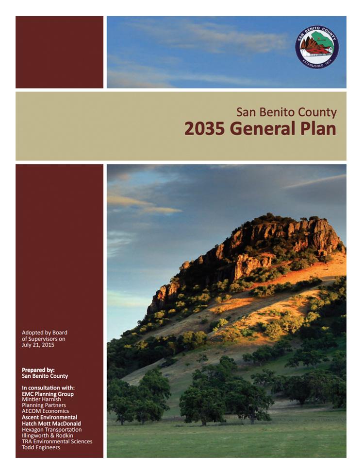 San Benito County 2035 General Plan