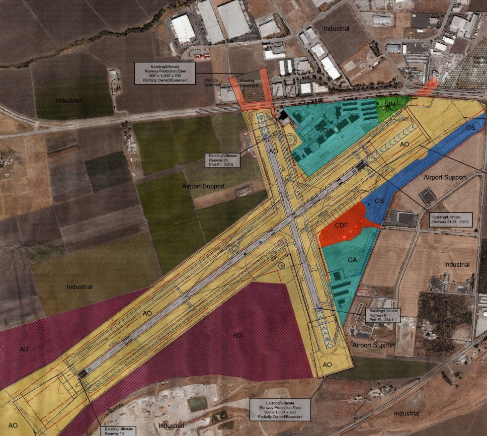 Hollister Airport with Map Overlay